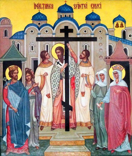 """ÎNĂLȚAREA SFINTEI CRUCI – """"Să vină peste voi bucuria aceea pe care a avut-o Sfânta Elena când a aflat cinstita Cruce!"""" (din Taina Cununiei)"""